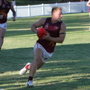 Tasmanian Recruit Nathan Robertson in action for PBC